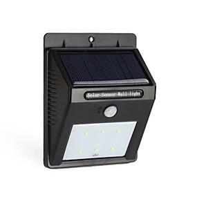 preiswerte LED Solarleuchten-6LED Solarkraft PIR Bewegungs-Sensor-Wandleuchte im Freien wasserdichte Gartenlampe