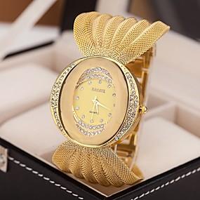 preiswerte Damenuhren-Damen Uhr Luxus-Armbanduhren Armband-Uhr Diamond Watch Quartz Legierung Silber / Braun / Gold Imitation Diamant Analog damas Glanz Modisch Kleideruhr Silber Golden
