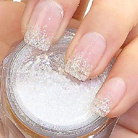저렴한 네일 글리터-1 반짝이는 가루 추상화 클래식 일상 용 손가락 발가락