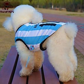 preiswerte Gifts for Soccer Fans-Katze Hund T-shirt Trikot Hundekleidung Blau Kostüm Terylen Streifen Buchstabe & Nummer Cosplay Hochzeit XS S M L XL