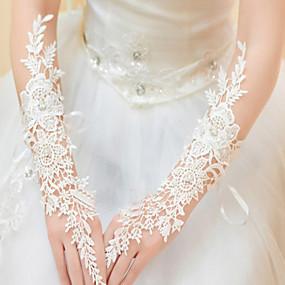 preiswerte Hochzeitshandschuhe-Spitze / Polyester Ellenbogen Länge Handschuh Klassisch / Brauthandschuhe / Party / Abendhandschuhe Mit Einfarbig