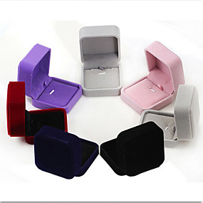cheap Accessories-Jewelry Boxes - Fashion Dark Blue, Black, Red 7 cm 7 cm 4 cm / Women's