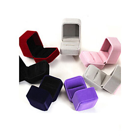 cheap Accessories-Box Square Earrings / Ring / Jewelry Box - Modern Black, Red, Blue 6 cm 5 cm 4 cm