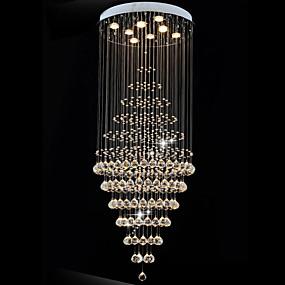 povoljno Viseća rasvjeta-8-Light Privjesak Svjetla Downlight Electroplated Metal LED 110-120V / 220-240V Meleg fehér / Hladno bijela / GU10
