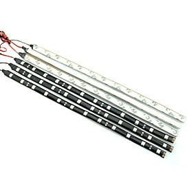 cheap Light Strips & Strings-0.3m LED Light Strips Waterproof Tiktok Lights 12LED LEDs White Red Blue Flexible 12 V IP44