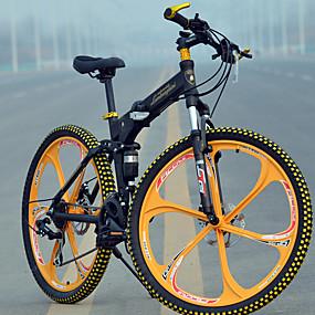preiswerte Cycling Clearance-Geländerad / Falträder Radsport 27 Geschwindigkeit 26 Zoll / 700CC Micro TS70-9 Scheibenbremsen Federgabel Hintere Federung gewöhnlich Aluminiumlegierung