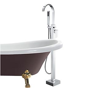 preiswerte Badewannen Armaturen-Badewannenarmaturen - Moderne Chrom Badewanne & Dusche Keramisches Ventil Bath Shower Mixer Taps / Einhand Ein Loch