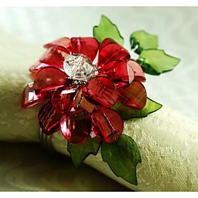 preiswerte Servietten-Ring-Acryl Servietten Ring Mit Mustern Umweltfreundlich Tischdekorationen 12 pcs
