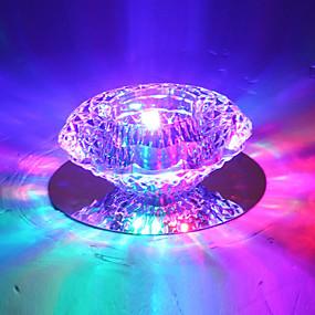 preiswerte Christmas-Unterputz Raumbeleuchtung Metall Kristall, LED 110-120V / 220-240V Wärm Weiß / Kühl Weiß / RGB LED-Lichtquelle enthalten / integrierte LED