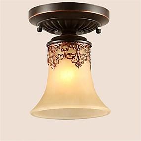 povoljno Stropna svjetla i ventilatori-Flush Mount Uplight Bronze Metal Glass LED 110-120V / 220-240V Meleg fehér / Hladno bijela / Žuta Bulb not included / E26 / E27