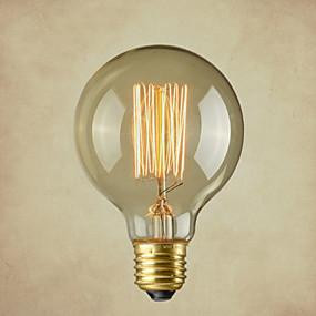 preiswerte Versandfertig in 24 Stunden-1pc 40 W E26 / E26 / E27 G80 Warmes Weiß 2300 k Glühbirne Vintage Edison Glühbirne 220-240 V / 110-130 V