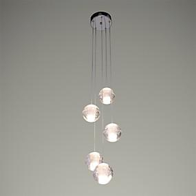 povoljno Viseća rasvjeta-UMEI™ 5-Light Klastera Privjesak Svjetla Ambient Light Chrome Metal Crystal, LED 90-240V Meleg fehér Bulb Included / G4