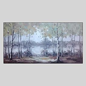 povoljno Slike za cvjetnim/biljnim motivima-Hang oslikana uljanim bojama Ručno oslikana - Pejzaž Comtemporary Uključi Unutarnji okvir / Prošireni platno