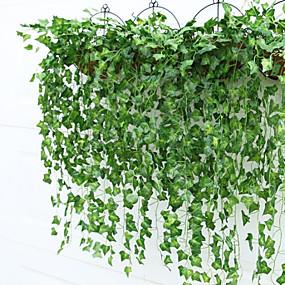 رخيصةأون فناء المنزل-البلاستيك النمط الرعوي نبات الكرمة أزهار الحائط نبات الكرمة 2