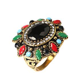 billige Vintage Ring-Dame Statement Ring Skjermfarge Gullbelagt damer Asiatisk Mote Fest Smykker Artisan