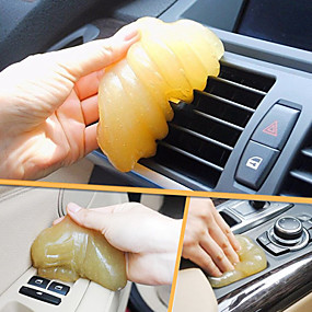 billige Spesialtilbud-ziqiao magisk bil utluft luftutløp oppbevaringsboks panel dørhåndtak støv lim rengjøringsverktøy (tilfeldig farge)