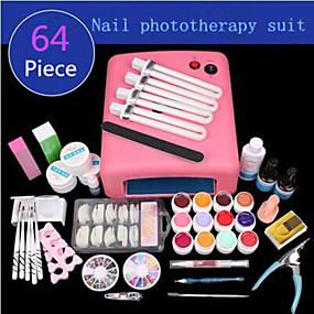 voordelige Nageldrogers & Lampen-1set manicure benodigdheden fototherapie manicure uv-lichttherapie lamp ingesteld fototherapie lijm 64 stuks
