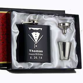 cheap Gifts & Decorations-Personalized Stainless Steel Barware & Flasks / Hip Flasks Wedding