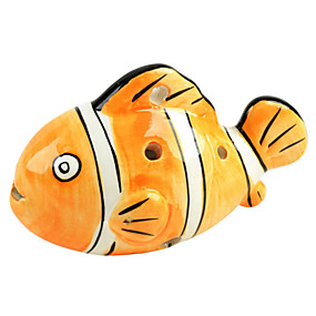 preiswerte Blasinstrumente-c sechs Löcher Orangenfisch ocarina Form