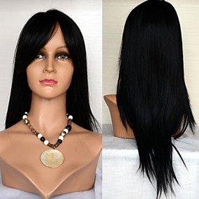 preiswerte 3save10% 5save20%-Echthaar Spitzenfront Perücke Stil Brasilianisches Haar Glatt Perücke 120% Haardichte 22 Zoll mit Babyhaar Gefärbte Haarspitzen (Ombré Hair) Natürlicher Haaransatz Afro-amerikanische Perücke 100