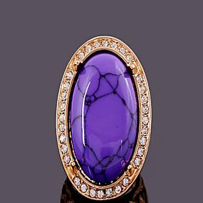 billige Vintage Ring-Dame Turkis Skjermfarge Fuskediamant Turkis Luksus Daglig Smykker