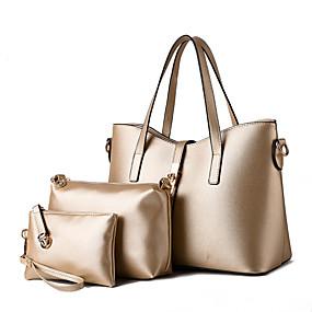 preiswerte M.Plus®-Damen Niete PU Tragetasche / Umhängetasche / Bag Set Beutel Sets Solide Hellblau / Königsblau / Lavendel