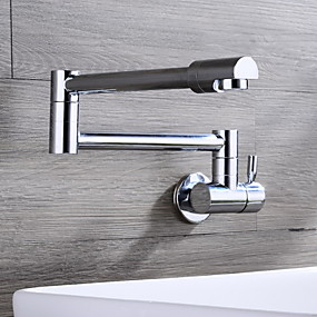 cheap Kitchen Faucets-Kitchen faucet-wall-mounted / folding / modern / brass / single handle single hole