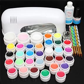 voordelige Nageldrogers & Lampen-1set Nail Art Kit Nagelsieraden Voor vinger Nagel kunst Manicure pedicure Punk / Kynsien korut