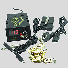 cheap Professional Tattoo Kits-BaseKey Professional Tattoo Kit Tattoo Machine - 1 pcs Tattoo Machines, Professional Alloy 20 W LCD power supply 1 alloy machine liner & shader / Case Included