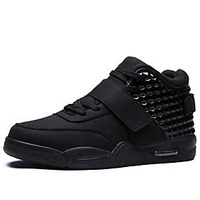 preiswerte Herrenschuhe-Herrn Komfort Schuhe Vlies Frühling / Sommer / Herbst Sneakers Walking Isoliert Schwarz / Weiß / Rot / Sportlich / Niete / Winter / Draussen / EU40