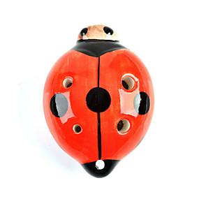preiswerte Blasinstrumente-c sechs Löcher Marienkäfer Okarina
