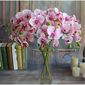 cheap Valentine's Day-5pcs Real-touch Artificial Flowers Orchids Home Decor Wedding Party Gift