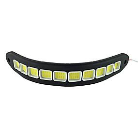preiswerte Auto Lampen-zdm 2 stücke auto glühbirnen 10 watt cob 900lm 10led / pcs led tagfahrlicht dc12v