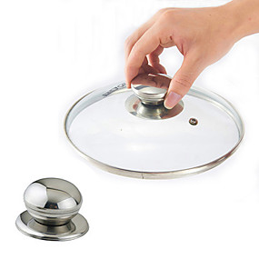 cheap Kitchen-Stainless Steel Cookware Pot Pan Lid Replacement Screw Handle Circular Utensil Cover Holding Knob