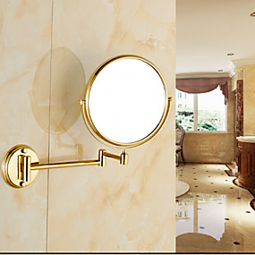 cheap Bathroom Gadgets-Mirror Neoclassical Brass 1 pc - Bathroom Cosmetic Mirror / Shower Accessories