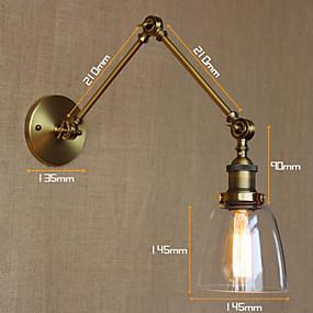 cheap Indoor Wall Lights-Rustic / Lodge Swing Arm Lights Metal Wall Light 110-120V / 220-240V 40W / E26 / E27