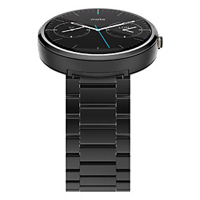 cheap Smartwatch Bands-Watch Band for Moto 360 Motorola Butterfly Buckle Stainless Steel Wrist Strap
