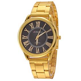 preiswerte Markenuhren-JUBAOLI Herrn Uhr Armbanduhr Quartz Edelstahl Unedles Metall Gold Armbanduhren für den Alltag Analog Charme Aristo Gold Weiß Schwarz / Ein Jahr / SSUO LR626