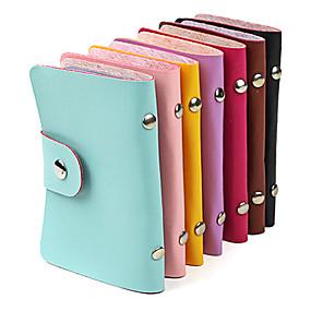 preiswerte Other Geh?use Organisation-stylischer PU Leder Business Kreditkarteninhaber 1Stk (24-Pocket farbig sortiert)
