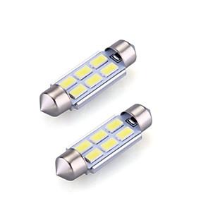 billige Lisensplatelampe-2pcs 36mm Bil Elpærer 2 W SMD 5730 120 lm 6 LED interiør Lights Til