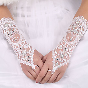 preiswerte Hochzeitshandschuhe-Elastischer Satin / Seide Ellenbogen Länge Handschuh Brauthandschuhe Mit Schleife