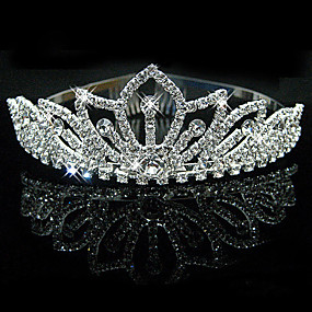 cheap Wedding & Party Jewelry-Bridal Wedding Princess Pageant Prom Crystal Tiara Crown Headband