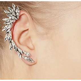preiswerte Ohrringe-Damen Ohr-Stulpen Ohr Kletterer Bergsteiger Ohrringe damas Modisch Elegant Alltäglich Strass Ohrringe Schmuck Silber Für Alltag