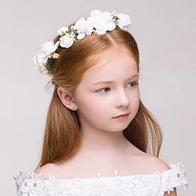 levne Doplňky pro květinové družičky-Látka / Plastický Věnce s 1 Svatební / Zvláštní příležitosti / Venkovní Přílba