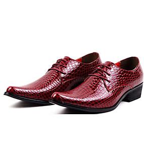 levne Větší obuv-Pánské Společenské boty Syntetika Jaro / Podzim Oxfordské Černá / Červená / Party / Party / Venkovní / Komfortní boty