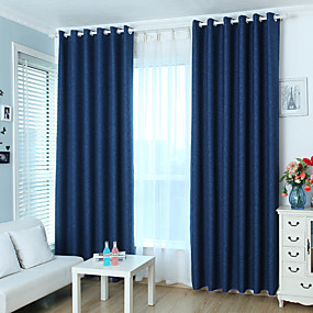cheap Curtains Drapes-Custom Made Blackout Blackout Curtains Drapes Two Panels / Jacquard / Kids Room