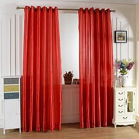 preiswerte Vorhänge und Gardinen-Vorhänge drapiert Ein Panel W99cm×L200cm Purpur / Wohnzimmer