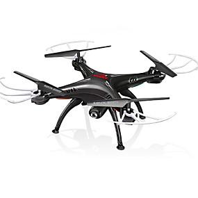 preiswerte SYMA®-RC Drohne SYMA X5SW RTF 4 Kan?le 6 Achsen 2.4G Mit HD - Kamera 0.3MP 480P Ferngesteuerter Quadrocopter FPV / Ein Schlüssel Für Die Rückkehr / Auto-Takeoff Ferngesteuerter Quadrocopter / Fernsteuerung