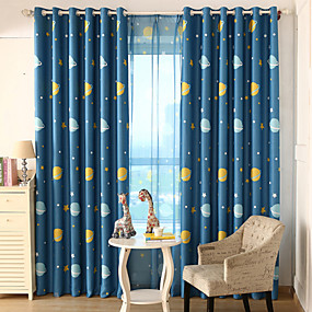 "cheap Curtains & Drapes-Custom Made Kids / Teen Blackout Curtains Drapes Two Panels 2*(72W×84""L) / Kids Room"