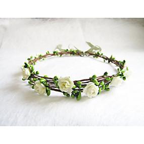 preiswerte Schmuck & Armbanduhren-Damen Mädchen Blumig Blumen Stil Retro,Papier Stirnbänder Fazinierendes Schmuck für die Stirn-Blume